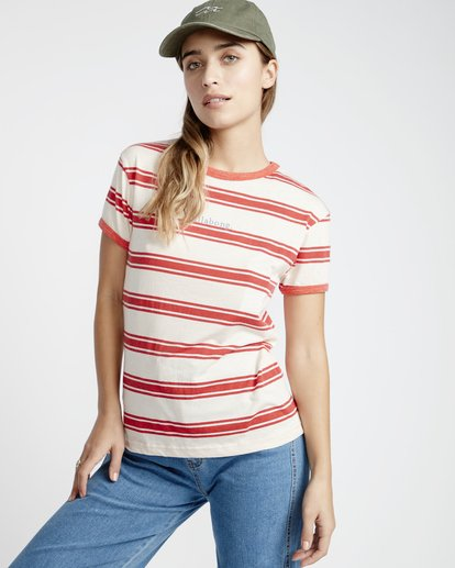1 Ringer - T-Shirt für Frauen  Q3SS08BIF9 Billabong