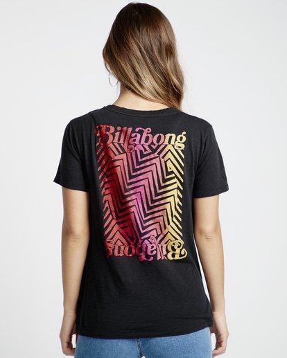 2 She'S A Rainbow - Maglietta da Donna Black Q3SS12BIF9 Billabong