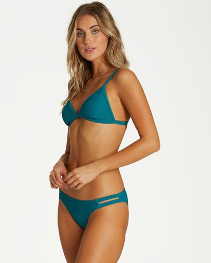3 Tanlines Fixed - Top de Bikini Triangular Fijo para Mujer Azul Q3ST07BIF9 Billabong