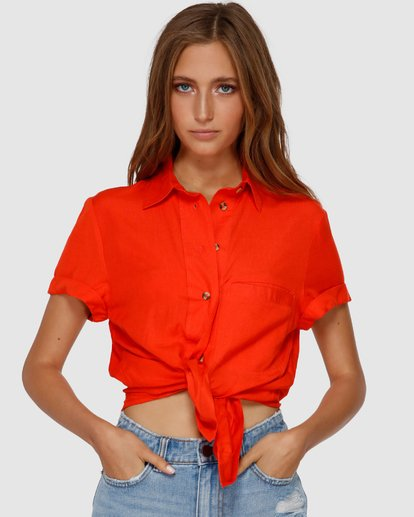 1 SWEET LIFE SHIRT Orange Q3TP42BIMU Billabong