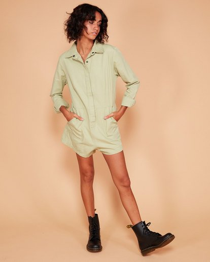 0 GIGI TWILL PLAYSUIT Verde Q3WK40BIMU Billabong