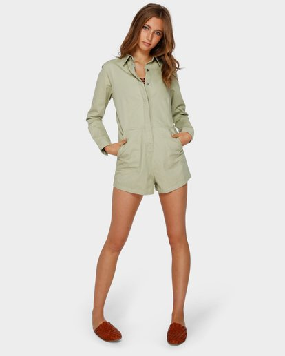 4 GIGI TWILL PLAYSUIT Verde Q3WK40BIMU Billabong