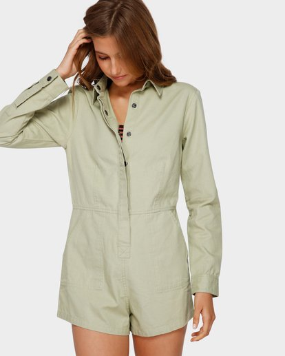 1 GIGI TWILL PLAYSUIT Verde Q3WK40BIMU Billabong