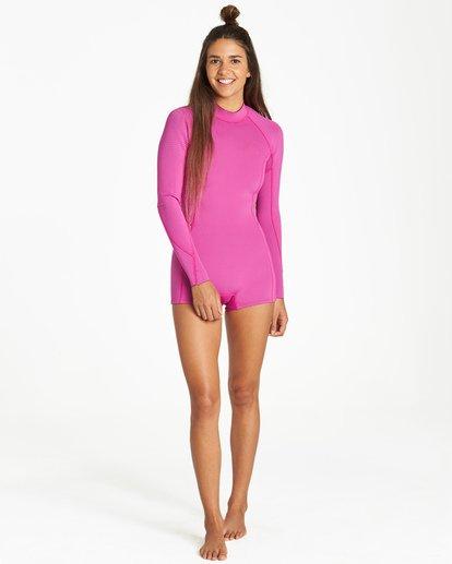 0 Spring Fever - Traje de Surf de Primavera para Mujer Rosa Q42G03BIF9 Billabong