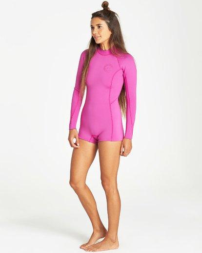 2 Spring Fever - Traje de Surf de Primavera para Mujer Rosa Q42G03BIF9 Billabong