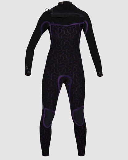 5 3/2mm Furnace Carbon GBS - Traje de Surf Integral con Cremallera en el Pecho Carbon para Mujer Negro Q43G02BIF9 Billabong