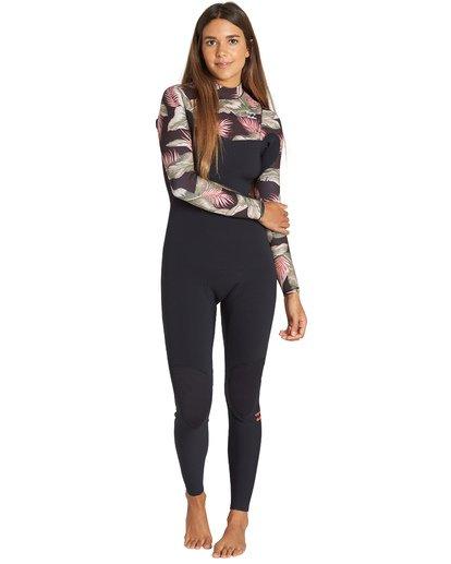 0 3/2mm Furnace Carbon GBS - Chest Zip Fullsuit Wetsuit for Women Black Q43G02BIF9 Billabong