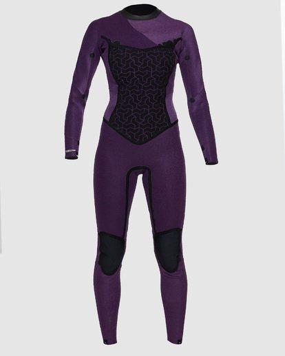 4 3/2mm Furnace Synergy GBS - Back Zip Fullsuit Neoprenanzug für Frauen Schwarz Q43G04BIF9 Billabong