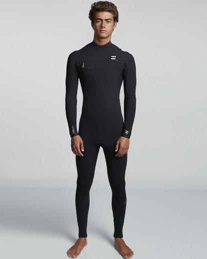 0 3/2mm Furnace Comp GBS - Chest Zip Fullsuit Neoprenanzug für Männer Schwarz Q43M03BIF9 Billabong