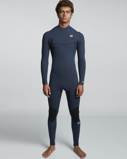 0 3/2mm Furnace Comp GBS - Chest Zip Fullsuit Neoprenanzug für Männer Blau Q43M03BIF9 Billabong