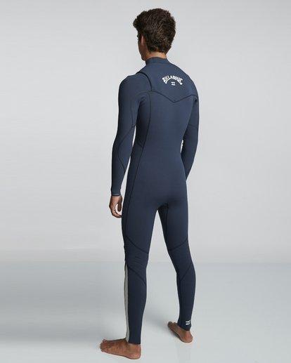 4 3/2mm Furnace Comp GBS - Chest Zip Fullsuit Neoprenanzug für Männer Blau Q43M03BIF9 Billabong