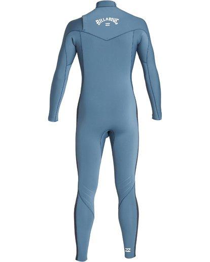 1 4/3mm Furnace Revolution - Chest Zip Langärmeliger Fullsuit Neoprenanzug für Jungen Blau Q44B75BIF9 Billabong