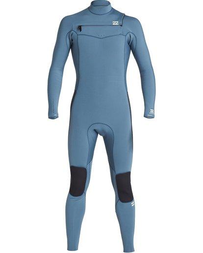0 4/3mm Furnace Revolution - Chest Zip Langärmeliger Fullsuit Neoprenanzug für Jungen Blau Q44B75BIF9 Billabong