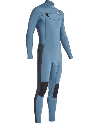 3 4/3mm Furnace Revolution - Chest Zip Langärmeliger Fullsuit Neoprenanzug für Jungen Blau Q44B75BIF9 Billabong