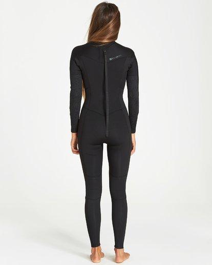 1 4/3mm Furnace Synergy GBS - Back Zip Fullsuit Neoprenanzug für Frauen Schwarz Q44G04BIF9 Billabong