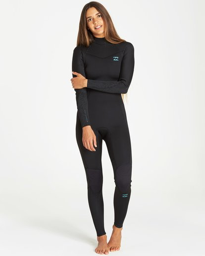 0 4/3mm Furnace Synergy GBS - Back Zip Fullsuit Neoprenanzug für Frauen Schwarz Q44G04BIF9 Billabong
