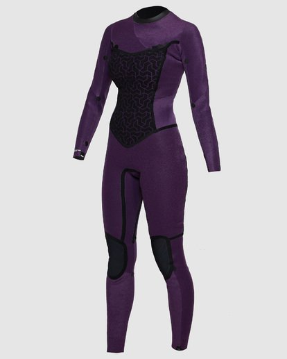 5 4/3mm Furnace Synergy GBS - Back Zip Fullsuit Neoprenanzug für Frauen Schwarz Q44G04BIF9 Billabong