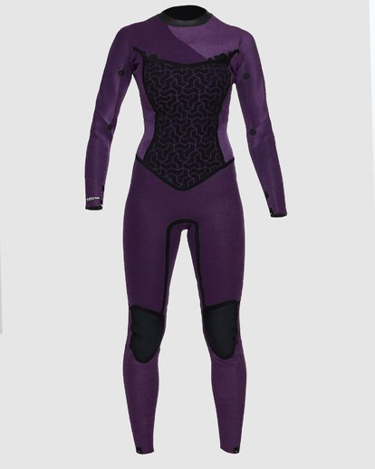 6 4/3mm Furnace Synergy GBS - Back Zip Fullsuit Neoprenanzug für Frauen Schwarz Q44G04BIF9 Billabong