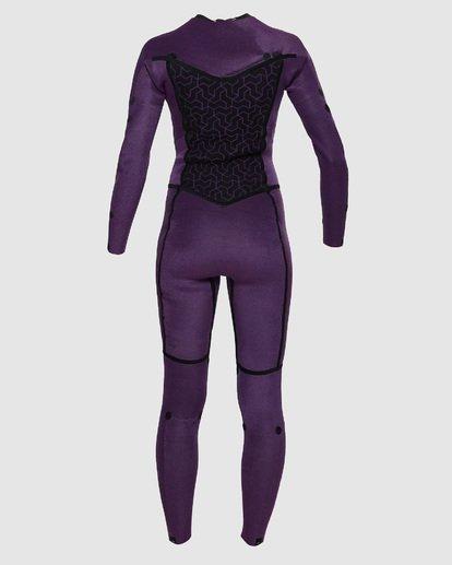 7 4/3mm Furnace Synergy GBS - Back Zip Fullsuit Neoprenanzug für Frauen Schwarz Q44G04BIF9 Billabong