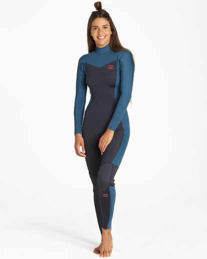 1 4/3mm Furnace Synergy GBS - Traje de Surf Integral con Cremallera en el Pecho para Mujer Negro Q44G32BIF9 Billabong