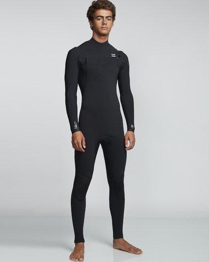 1 4/3mm Furnace Comp GBS - Chest Zip Fullsuit Neoprenanzug für Männer Schwarz Q44M03BIF9 Billabong