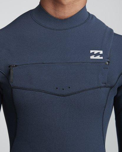 5 4/3mm Furnace Comp GBS - Chest Zip Fullsuit Neoprenanzug für Männer Blau Q44M03BIF9 Billabong