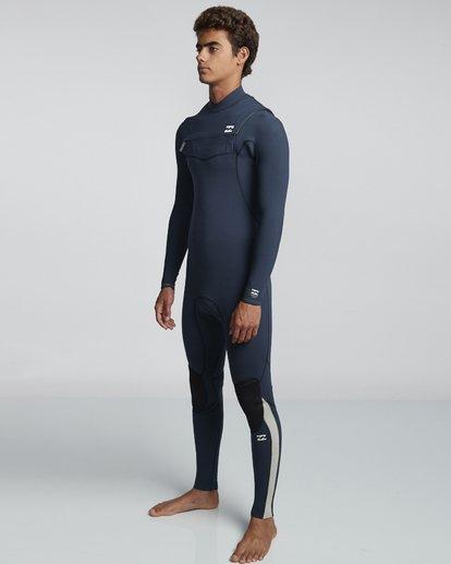 3 4/3mm Furnace Comp GBS - Chest Zip Fullsuit Neoprenanzug für Männer Blau Q44M03BIF9 Billabong