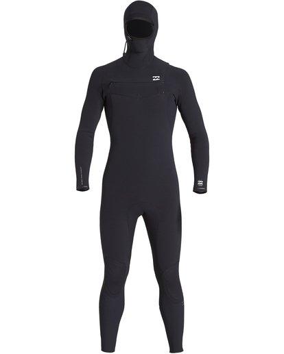 7 4/3mm Furnace Comp Hd - Chest Zip Hood Neoprenanzug für Männer Schwarz Q44M04BIF9 Billabong