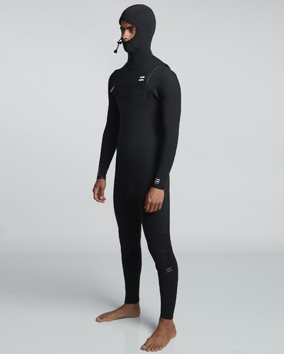 2 4/3mm Furnace Comp Hd - Chest Zip Hood Neoprenanzug für Männer Schwarz Q44M04BIF9 Billabong