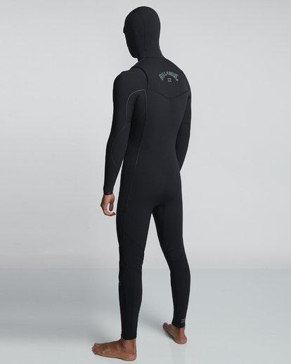 3 4/3mm Furnace Comp Hd - Chest Zip Hood Neoprenanzug für Männer Schwarz Q44M04BIF9 Billabong