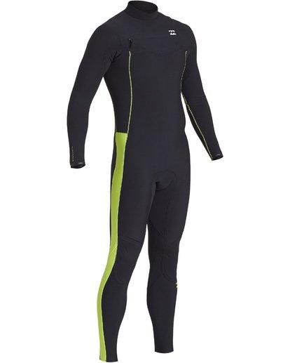 4 4/3mm Furnace Pro  - Pro Chest Zip Fullsuit Neoprenanzug für Männer Grün Q44M06BIF9 Billabong