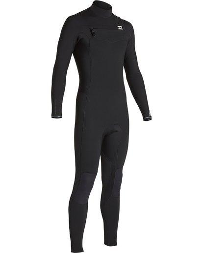 3 4/3mm Furnace Revolution - Chest Zip Langärmeliger Fullsuit Neoprenanzug für Männer Schwarz Q44M07BIF9 Billabong