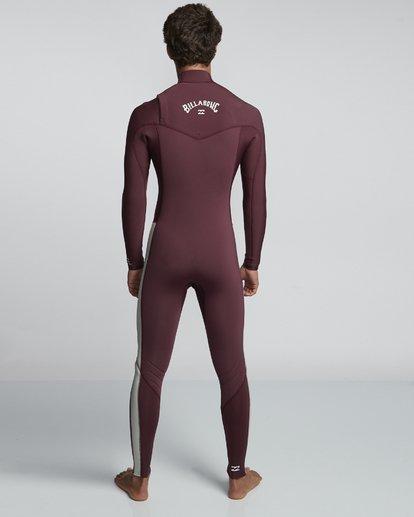 2 4/3mm Furnace Revolution - Chest Zip Langärmeliger Fullsuit Neoprenanzug für Männer Rot Q44M07BIF9 Billabong