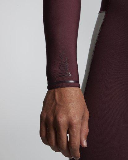 5 4/3mm Furnace Revolution - Chest Zip Langärmeliger Fullsuit Neoprenanzug für Männer Rot Q44M07BIF9 Billabong