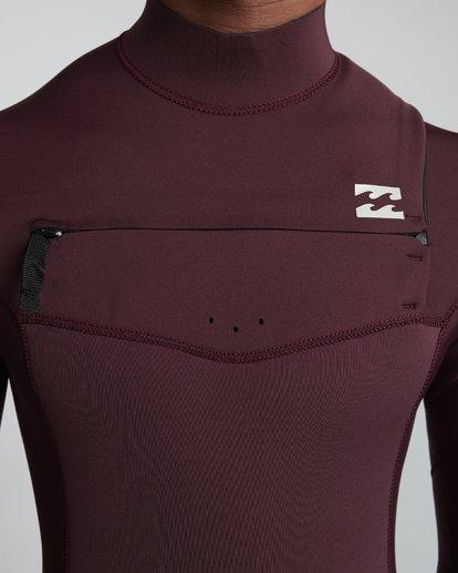 7 4/3mm Furnace Revolution - Chest Zip Langärmeliger Fullsuit Neoprenanzug für Männer Rot Q44M07BIF9 Billabong