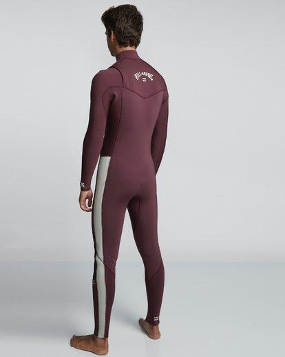 4 4/3mm Furnace Revolution - Chest Zip Langärmeliger Fullsuit Neoprenanzug für Männer Rot Q44M07BIF9 Billabong