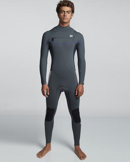 0 4/3mm Furnace Revolution - Chest Zip Langärmeliger Fullsuit Neoprenanzug für Männer  Q44M07BIF9 Billabong