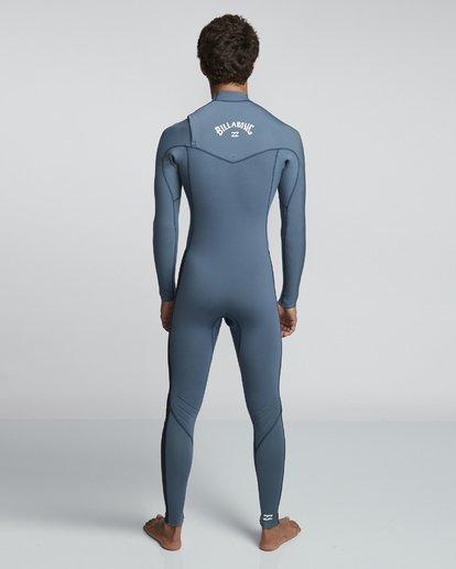 1 4/3mm Furnace Revolution - Chest Zip Langärmeliger Fullsuit Neoprenanzug für Männer Blau Q44M07BIF9 Billabong