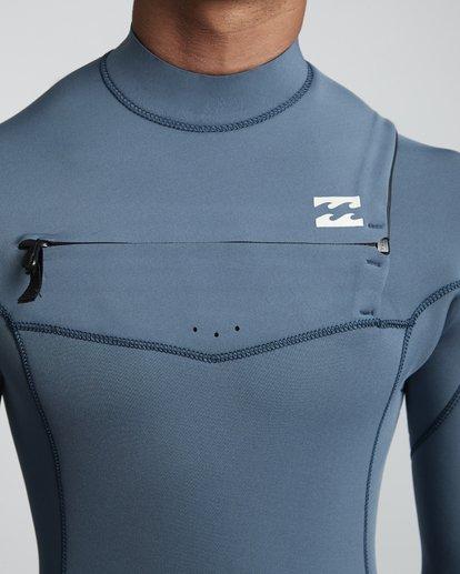 3 4/3mm Furnace Revolution - Chest Zip Langärmeliger Fullsuit Neoprenanzug für Männer Blau Q44M07BIF9 Billabong