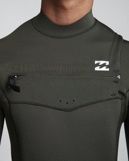 5 4/3mm Furnace Absolute GBS - Chest Zip Langärmeliger Neoprenanzug für Männer Grün Q44M09BIF9 Billabong
