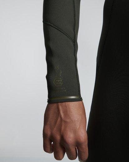 7 4/3mm Furnace Absolute GBS - Chest Zip Langärmeliger Neoprenanzug für Männer Grün Q44M09BIF9 Billabong