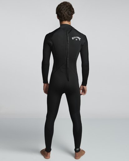 2 4/3mm Furnace Absolute GBS - Back Zip Langärmeliger Fullsuit Neoprenanzug für Männer Schwarz Q44M10BIF9 Billabong