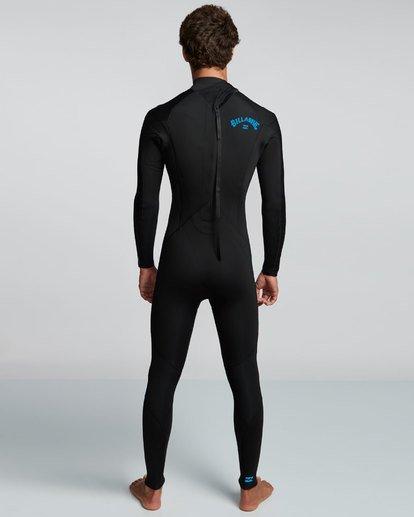 2 4/3mm Furnace Absolute GBS - Back Zip Langärmeliger Fullsuit Neoprenanzug für Männer Blau Q44M10BIF9 Billabong