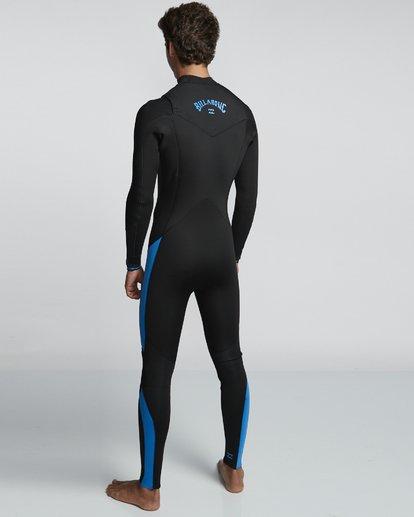 4 4/3mm Furnace Absolute GBS - Back Zip Langärmeliger Fullsuit Neoprenanzug für Männer Blau Q44M10BIF9 Billabong