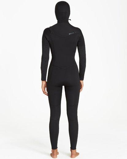 2 5/4mm Furnace Synergy Hd GBS - Chest Zip Hood Fullsuit Neoprenanzug für Frauen Schwarz Q45G04BIF9 Billabong