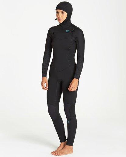 3 5/4mm Furnace Synergy Hd GBS - Chest Zip Hood Fullsuit Neoprenanzug für Frauen Schwarz Q45G04BIF9 Billabong