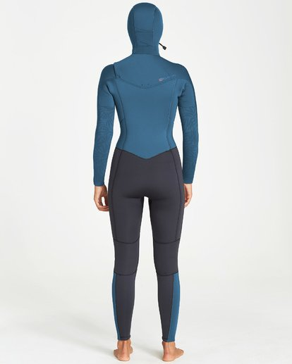 1 5/4mm Furnace Synergy Hd GBS - Traje de Surf Integral con Capucha y Cremallera en el Pecho para Mujer Negro Q45G04BIF9 Billabong