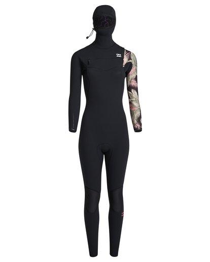 5 5/4mm Furnace Carbon Hd - Chest Zip Hood Neoprenanzug für Frauen Schwarz Q45G06BIF9 Billabong