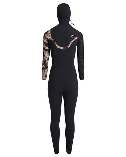 4 5/4mm Furnace Carbon Hd - Chest Zip Hood Neoprenanzug für Frauen Schwarz Q45G06BIF9 Billabong