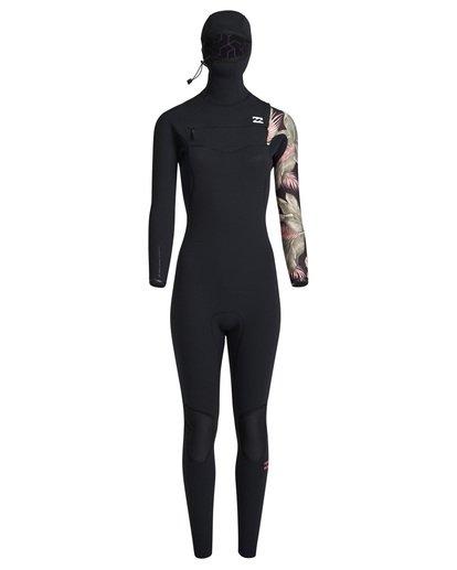 3 5/4mm Furnace Carbon Hd - Chest Zip Hood Neoprenanzug für Frauen Schwarz Q45G06BIF9 Billabong